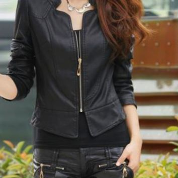 Leather Jacket Half Sleeve