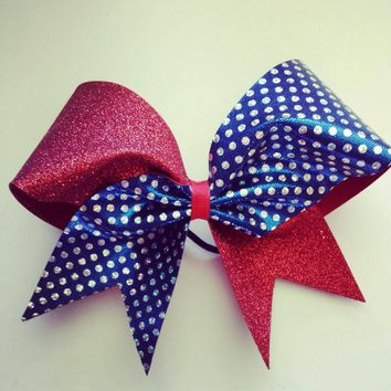 how to make cheer bows with fabric