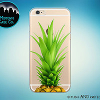 Pineapple Leaves Fun Clear Rubber Case for iPhone 7 6s 6 Plus SE 5s 5 5c iPod