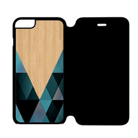 wooden geometric iPhone 6 Plus Flip Case Cover
