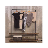 AUSTRALIA or UK - 90 Rack Double  - Pipe Furniture - Industrial Clothing Rack - Garment Rack - Clothes Rack