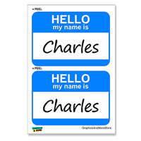 Charles Hello My Name Is - Sheet of 2 Stickers