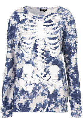 Skeleton Stud Sleeve Sweat - New In This Week  - New In
