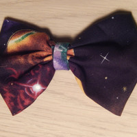 Galaxy Hair bow - One of a kind - Ready to ship