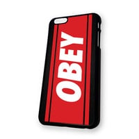 Black OBEY Logo iPhone 6 case