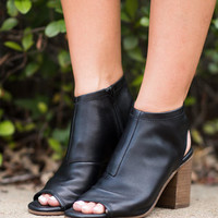 Steven By Steve Madden: The Stesha Heeled Booties, Black