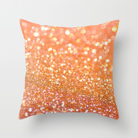 Apricot Honey Throw Pillow by Lisa Argyropoulos