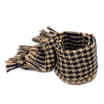 Men Windproof Cotton Thin Scarf