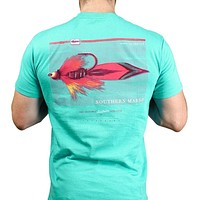 Outfitter Series Collection Lure Three Tee in Jockey Green by Southern Marsh