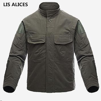 Waterproof Military Jacket Men Autumn Soft Army Combat Clothes