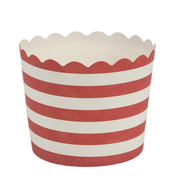 Simcha Collection Red Stripe Cupcake Wrappers Small/Case of 480