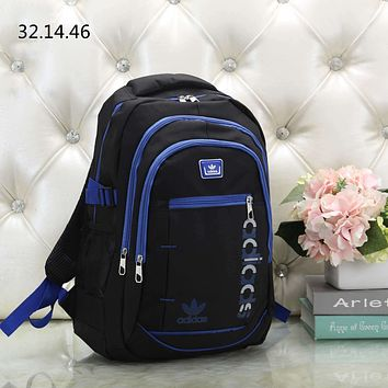 ADIDAS tide brand men and women outdoor sports travel large capacity backpack Blue
