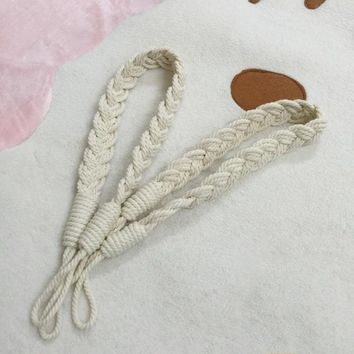Handmade Braided Window Curtain Tiebacks Holdbacks Hooks