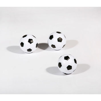 Pack of 3 Black/White Soccer Ball Style Foosballs by Hathaway