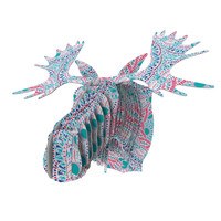"Miranda Mol ""Prismatic White"" Blue Pink Abstract Fred Moose Bust Jr."