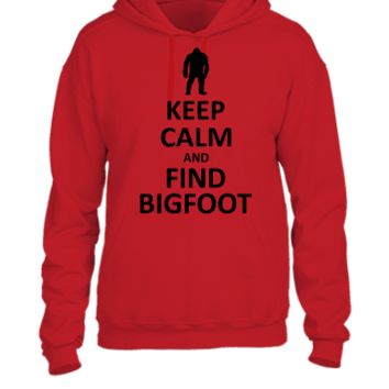keep calm and find a bigfoot - UNISEX HOODIE