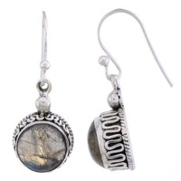 Arvino Sterling Silver Dangle Earring with Labradorite Gemstone
