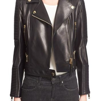Burberry London 'Mossgrove' Leather Jacket | Nordstrom