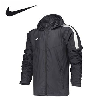 Nike Men's Sports Stand Collar Hooded Windproof Clothes Peg Woven Jacket