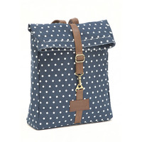 Dots Navy Backpack
