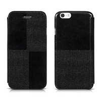 iVAPO Classic Retro Lightweight Fashion Flip Cover Case For Iphone 6 (4.7inch) (MM482) (Black)