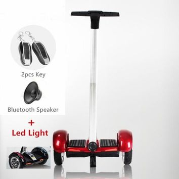 Red Segway Electric Scooter Hoverboard with Handle