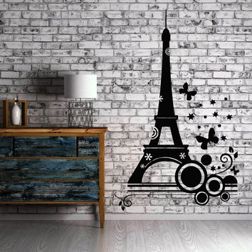 Eiffel Tower Paris Europe Tourist   Mural Wall Art Decor Vinyl Sticker Unique Gift z757