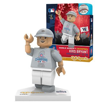 Chicago Cubs KRIS BRYANT World Series T-Shirt Limited Edition OYO Minifigure