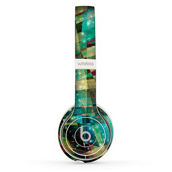 The Colorful Chaotic HD Shard Pattern Skin Set for the Beats by Dre Solo 2 Wireless Headphones