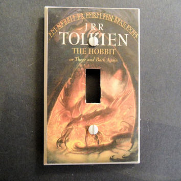 The Hobbit Book Cover Light Switch Cover by myevilfriend on Etsy