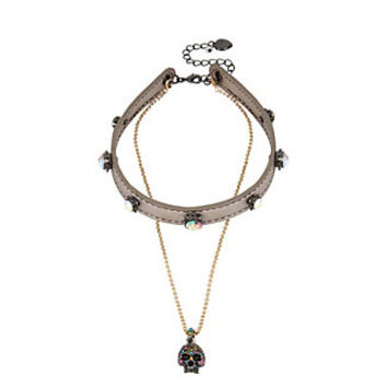 ALL HALLOWS SKULL CHOKER: Betsey Johnson