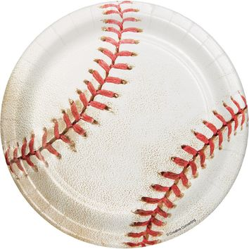 Baseball Dessert Plates, Little League Paper Plates, T-ball Dinnerware, Luncheon Plates