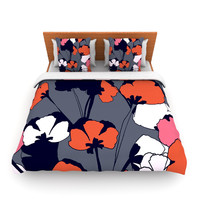 "Gabriela Fuente ""Pop Flowers"" Lightweight Duvet Cover"