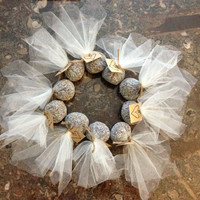 Lavender Sachets- Rustic Country Wedding Tulle Twine