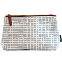 Woven Grey Pouch