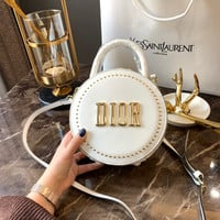 DIOR mini round shoulder bag