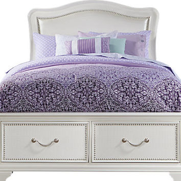 Sofia Vergara Kayla White 4 Pc Full Storage Bed - Beds Colors