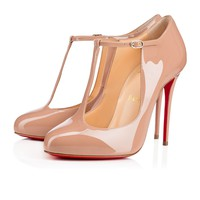 Tpoppins 100 Nude Patent leather - Women Shoes - Christian Louboutin