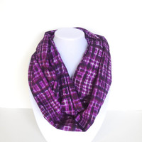 Infinity Scarf, Plaid Scarf, Purple Scarf, Checkered Scarf, Valentine's Day, Women Fashion, Gift For Her