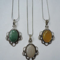 Mod Pendant Necklace- color options
