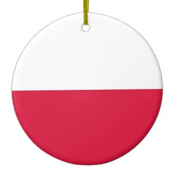 Ornament with flag of Poland