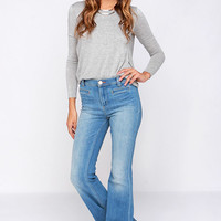 Dittos Amy Light Wash High Rise Flare Jeans