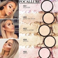 FOCALLURE Brand Makeup Highlighter Powder Illuminator Brighten Face Foundation Palette Highlighting Contour Professional Makeup