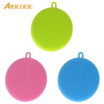 ABEDOE Food-grade Antibacterial Dishwashing Dish Brush Sponge Towel Scrubber For Kitchen Pot Pan Dish Bowl Fruit Vegetable