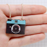 Diana Mini Camera Laser Cut Necklace