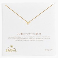 Women's Dogeared 'Friends - Bow' Pendant Necklace - Gold Dipped (Nordstrom Exclusive)