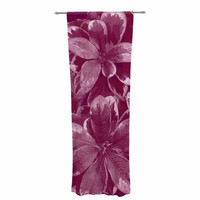 "Julia Grifol ""Warm Leaves"" Red Digital Decorative Sheer Curtain"