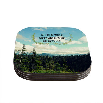 "Robin Dickinson ""Life Is..."" Landscape Typography Coasters (Set of 4)"