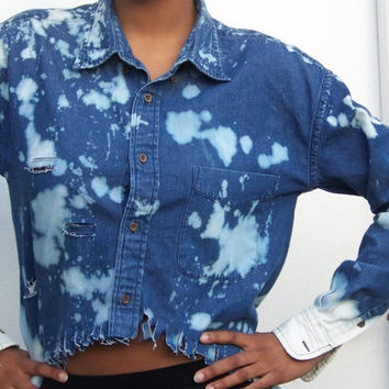 Destressed HighLow Shirt by UnanimousDecisions on Etsy