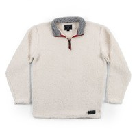 Appalachian Pile Pullover 1/4 Zip in White by Southern Marsh - FINAL SALE